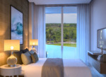 Cana Rock Universe - Bedroom golf course view (Edif. B)